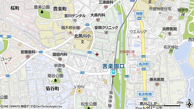 〒662-0074 兵庫県西宮市石刎町の地図