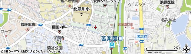 兵庫県西宮市石刎町周辺の地図
