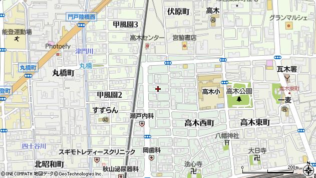 〒663-8035 兵庫県西宮市北口町の地図