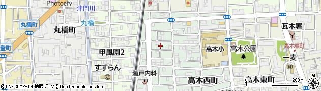 兵庫県西宮市北口町周辺の地図