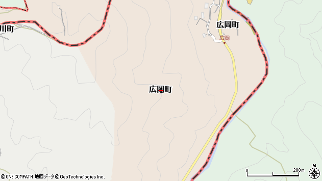 〒630-1101 奈良県奈良市広岡町の地図