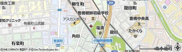 愛知県豊橋市小池町(上田)周辺の地図