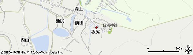 愛知県豊橋市岩崎町(坂尻)周辺の地図