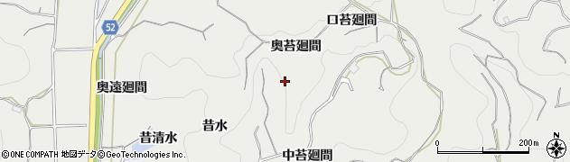 愛知県南知多町(知多郡)内海(奥苔廻間)周辺の地図