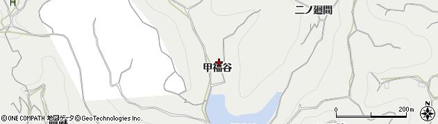 愛知県南知多町(知多郡)内海(甲福谷)周辺の地図