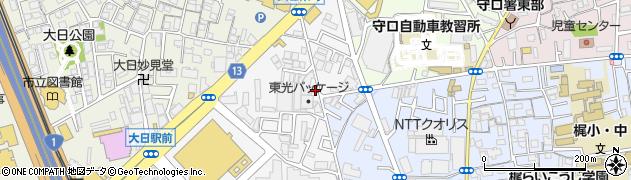 大阪府守口市大日東町周辺の地図