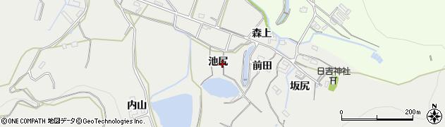 愛知県豊橋市岩崎町(池尻)周辺の地図