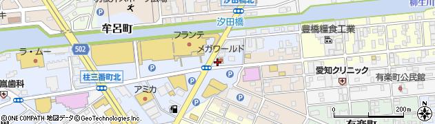 愛知県豊橋市牟呂町(扇田)周辺の地図