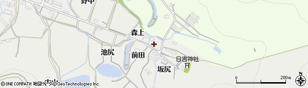 愛知県豊橋市岩崎町(森上)周辺の地図