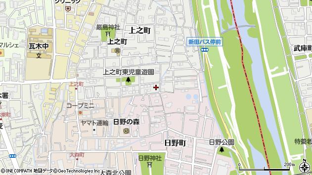 〒663-8021 兵庫県西宮市上之町の地図