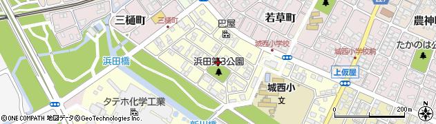 兵庫県赤穂市城西町周辺の地図