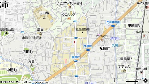 〒662-0838 兵庫県西宮市能登町の地図