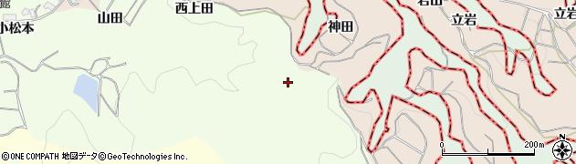 京都府木津川市加茂町北(西上田)周辺の地図