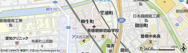 愛知県豊橋市柳生町周辺の地図