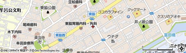 愛知県豊橋市東脇周辺の地図