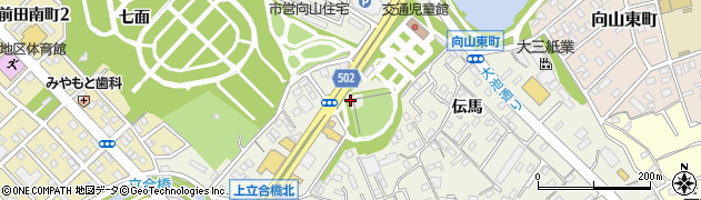 愛知県豊橋市向山町(池下)周辺の地図