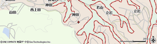 京都府木津川市加茂町山田周辺の地図