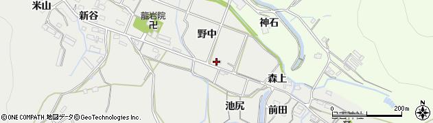 愛知県豊橋市岩崎町(野中)周辺の地図