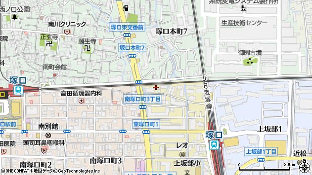 〒661-0011 兵庫県尼崎市東塚口町の地図