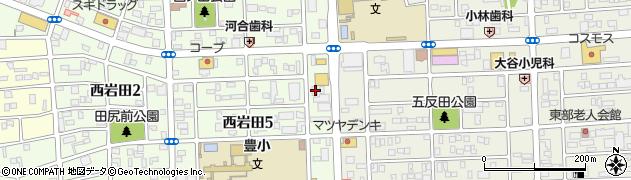 江戸一岩田店周辺の地図