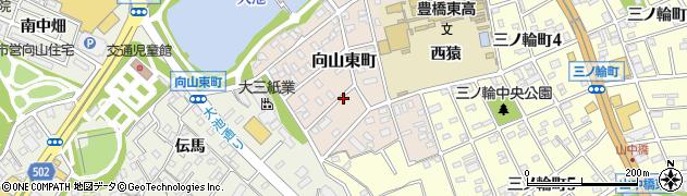 愛知県豊橋市向山東町周辺の地図