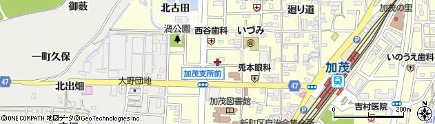 京都府木津川市加茂町里(西鳥口)周辺の地図