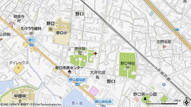 〒675-0012 兵庫県加古川市野口町野口の地図