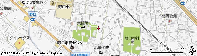 兵庫県加古川市野口町(野口)周辺の地図