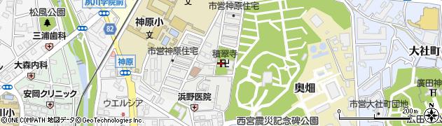 積翠寺周辺の地図
