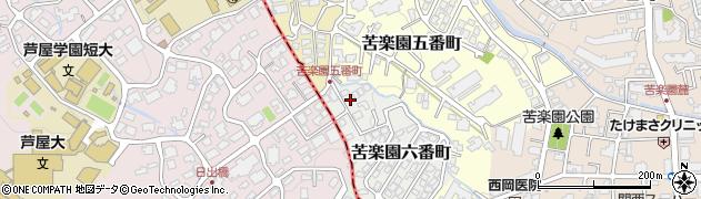 兵庫県西宮市苦楽園六番町周辺の地図