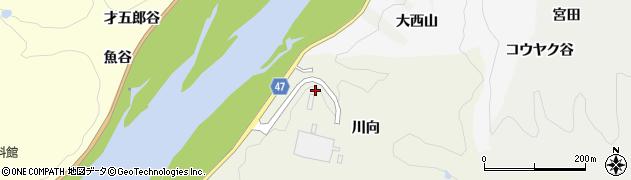 京都府木津川市鹿背山(川向)周辺の地図