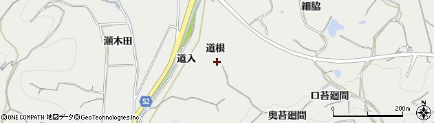 愛知県南知多町(知多郡)内海(道根)周辺の地図
