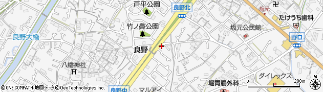 兵庫県加古川市野口町(良野)周辺の地図