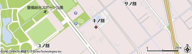 愛知県豊橋市神野新田町(キノ割)周辺の地図