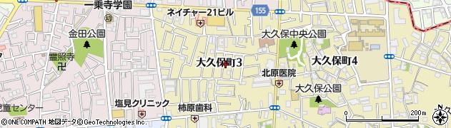 大阪府守口市大久保町周辺の地図