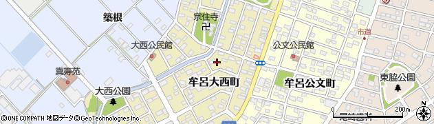 愛知県豊橋市牟呂大西町周辺の地図