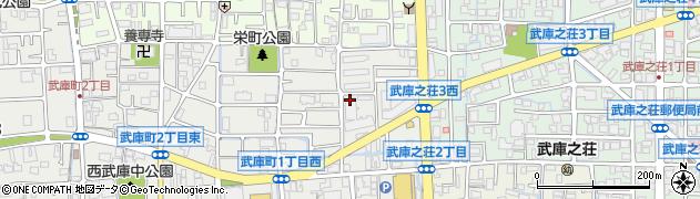 兵庫県尼崎市武庫町1丁目周辺の地図