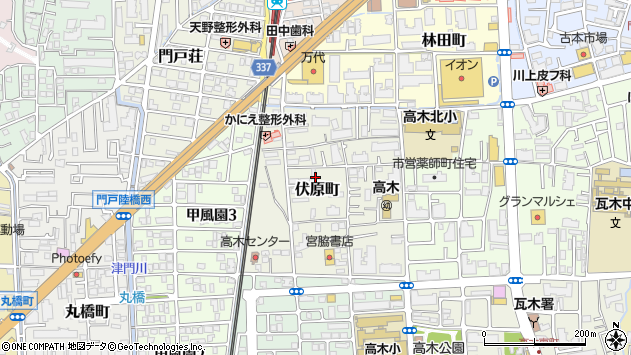〒663-8031 兵庫県西宮市伏原町の地図