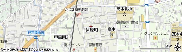 兵庫県西宮市伏原町周辺の地図