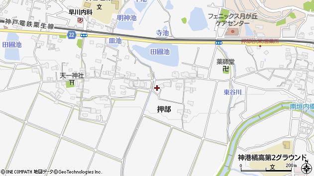 〒651-2212 兵庫県神戸市西区押部谷町押部の地図