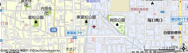 兵庫県尼崎市塚口町5丁目周辺の地図