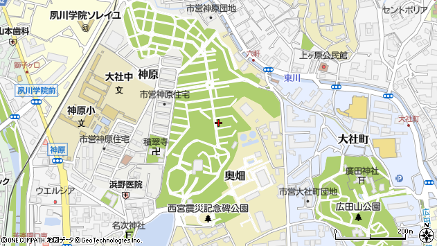〒662-0022 兵庫県西宮市奥畑の地図