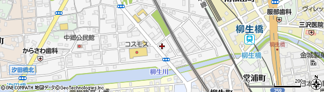 味A花中店周辺の地図