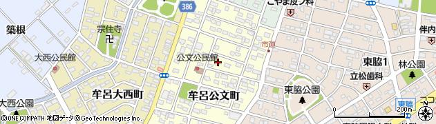 愛知県豊橋市牟呂公文町周辺の地図
