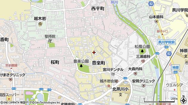 〒662-0072 兵庫県西宮市豊楽町の地図