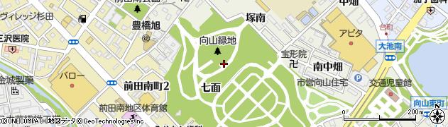 愛知県豊橋市向山町(七面)周辺の地図
