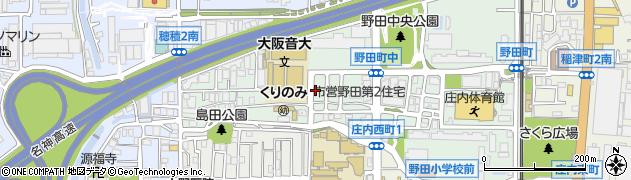 大阪府豊中市野田町周辺の地図