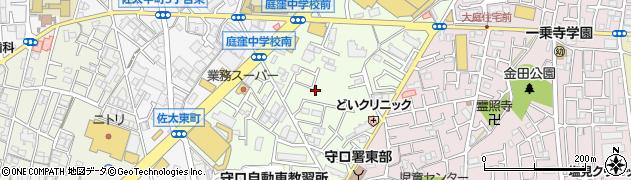 大阪府守口市佐太東町周辺の地図