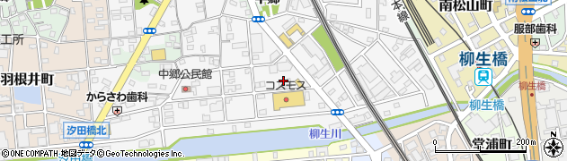 愛知県豊橋市花中町周辺の地図