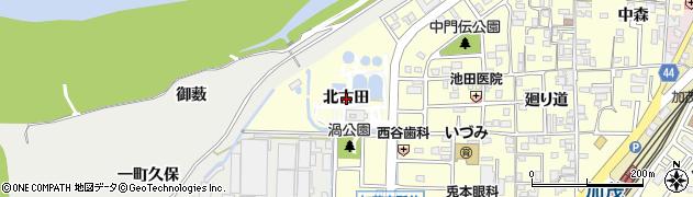 京都府木津川市加茂町里(北古田)周辺の地図